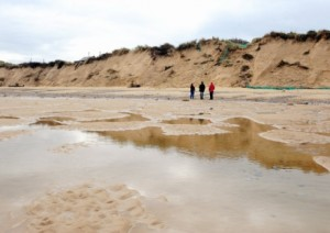 The coast line at Hemsby which after last weeks storms has dramatically changed. October 2013. Picture: James Bass
