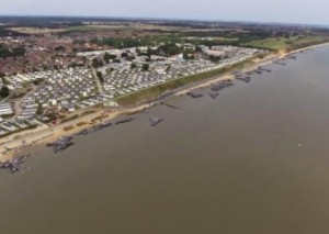 An image from Mike Page's video of the Hopton coastline.