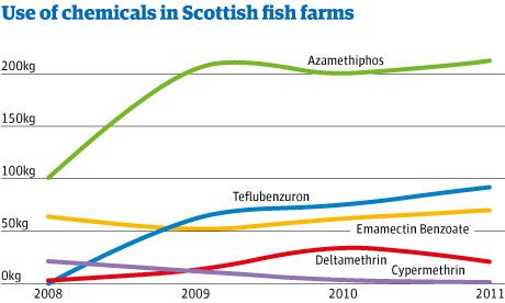Use of chemical in Scottish fish farms