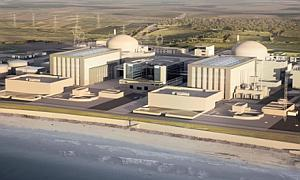Artist impression issued by EDF of the how the new Hinkley Point C station will look.