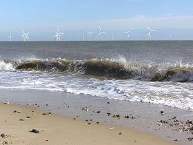Scroby Windfarm seen from the shoreline