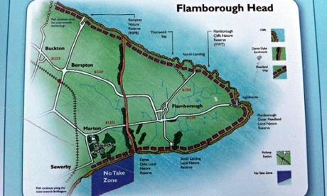 A map of Flamborough Head's 'no take zone'