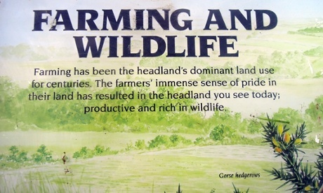 Yorkshire Wildlife Trust storyboard on farming and wildlife at Flamborough