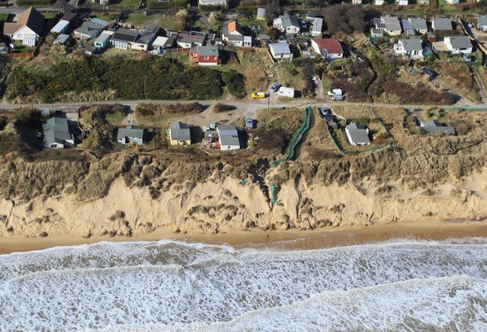 Hemsby South Marrams - aerial photo by Mike Page