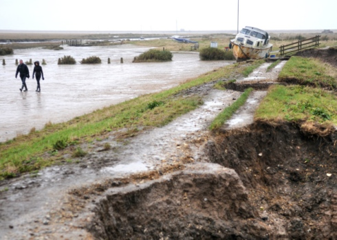 Antony Kelly's photo of Blakeney following the December 2013 tidal flood.