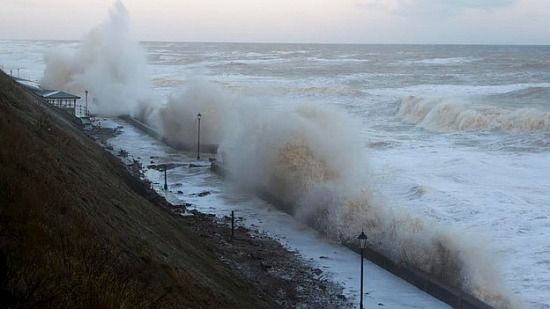 The scene in Cromer this morning.