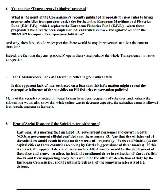 Letter to President of the European Commission regarding fishing subsidies page5