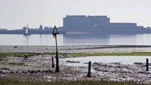 Bradwell nuclear power station, Blackwater estuary, Essex. Photo: BBC.