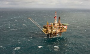 Gannett Alpha oil platform in the North Sea