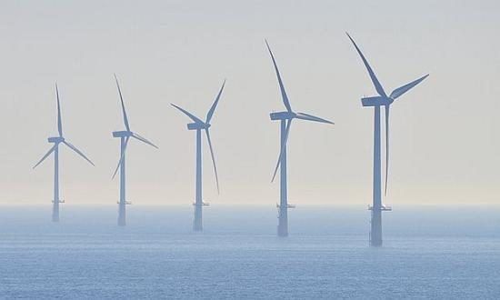 An offshore windfarm in the North Sea. Dong Energy has pledged to invest £6bn in the UK. Photograph: John Lawson/Flickr Vision