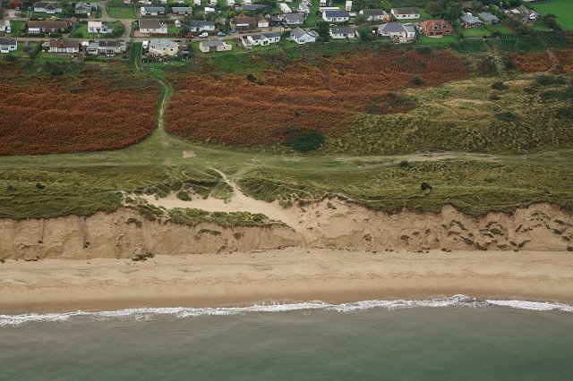 Aerial photograph taken by Mike Page half way between Hemsby Gap and Winterton-on Sea
