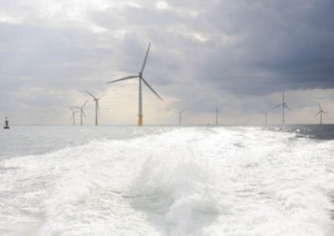 A section of Sheringham Shoal Offshore Wind Farm snapped by Ian Burt